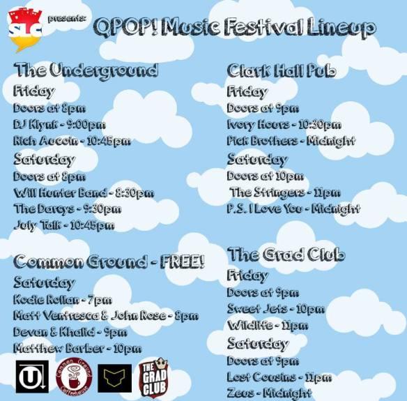 Q POP! schedule